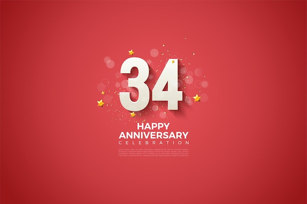 34e anniversaire avec un design charmant
