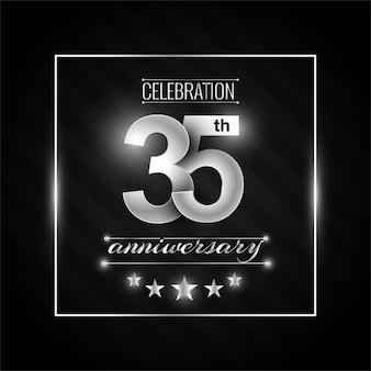 35e anniversaire de fond