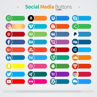 36 icônes de médias sociaux