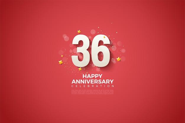 36e anniversaire avec un design épuré