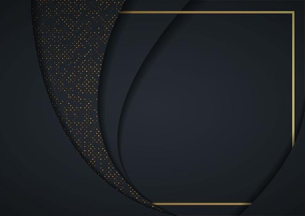 3d abstrait avec des couches de papier noir