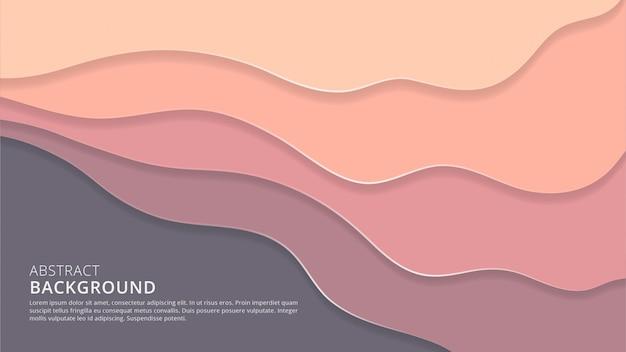 3d abstrait papercut