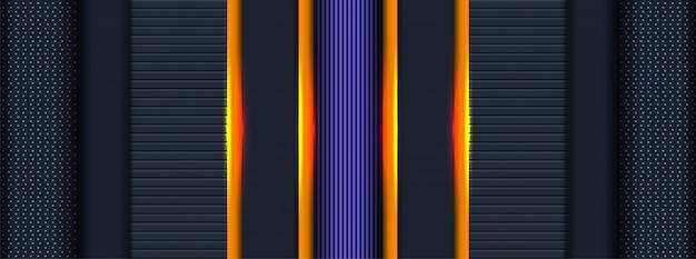 3d abstrait réaliste avec couche de chevauchement de fond géométrique