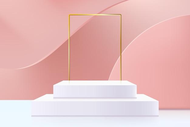 3d abstrait scène et fond de formes