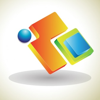 3d abstrait signe logo
