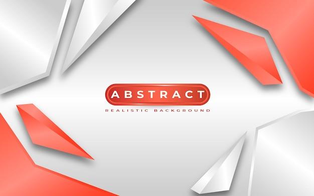 3d abstrait style blanc et rouge
