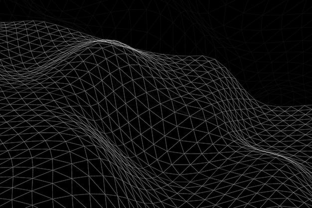 3d abstrait vague de fond