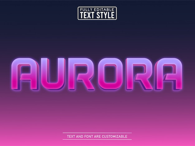 3d aurora game galaxy cosmos text effect