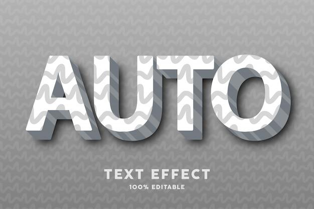 3d blanc avec effet de texte motif abstrait