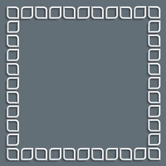 3d cadre blanc en style arabe