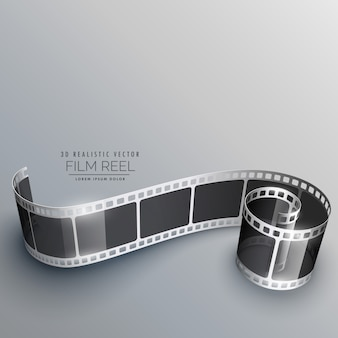 3d caméra film strip vector background