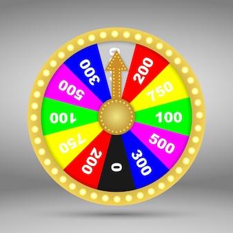 3d, coloré, roue, de, fortune, ou, chance