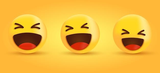3d emoji riant