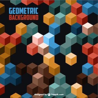 3d fond géométrique
