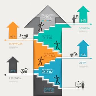 3d intensifier les affaires de diagramme d'escalier flèche.