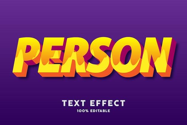 3d jaune frais avec effet de texte motif ondulé