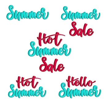 3d lettrage set vente d'été chaud