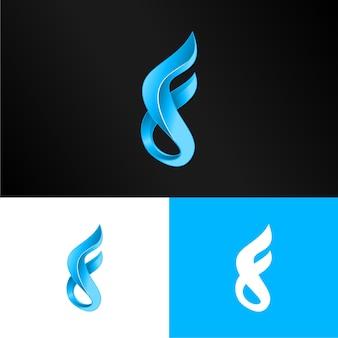 3d lettre f logo