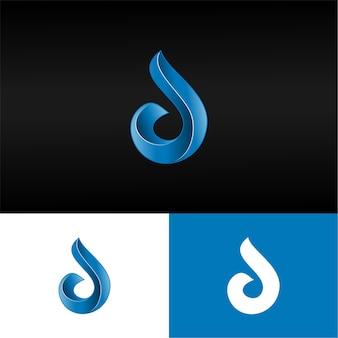 3d lettre d logo