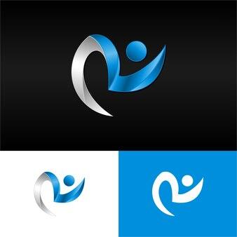 3d lettre r logo moderne téléchargement gratuit