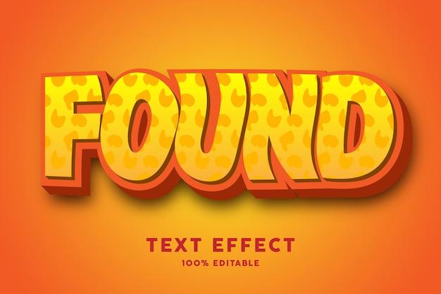 3d orange jaune gras avec effet de texte motif abstrait