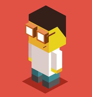 3d pixelate docteur