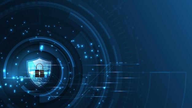 3d Protégé Garde Bouclier Sécurité Concept Sécurité Cyber Numérique Abstrait Technologie Fond Vecteur Premium