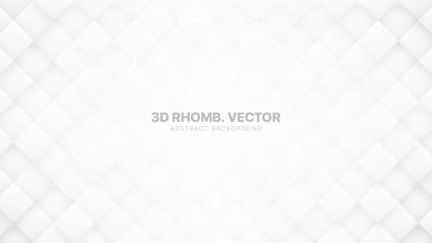 3d rhombus bloque fond abstrait blanc technologique