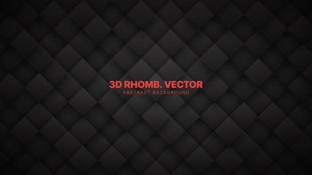 3d rhombus bloque grille technologique minimaliste gris foncé