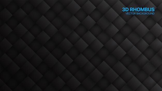 3d rhombus minimalist black technology résumé contexte