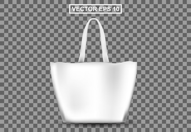 3d sac shopping réaliste, femme d'affaires totebag