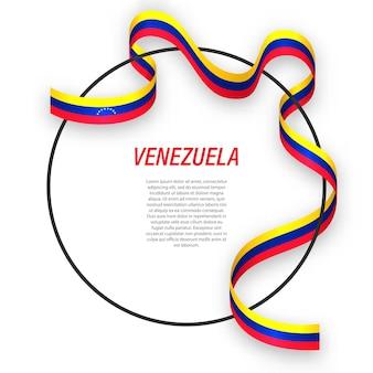 3d venezuela avec drapeau national.