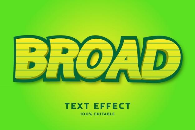 3d vert jaune avec effet de texte de style tourbillon