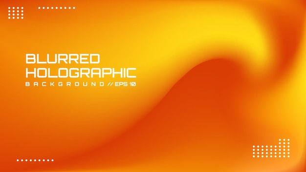 3ème design holographique blur simple et moderne adapté à un arrière-plan de présentation