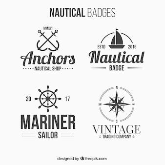 4 badges nautiques