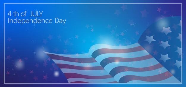 4 bannière célébration de la fête de l'indépendance juillet