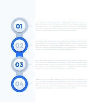 4 étapes, conception de la barre de progression, éléments vectoriels pour infographie d'entreprise