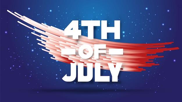 Le 4 juillet. abstrait dégradé de rayures blanches et rouges