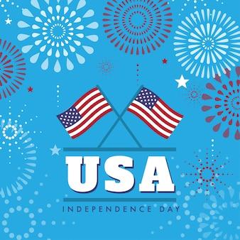 4 juillet conception de fond de la fête de l'indépendance des états-unis
