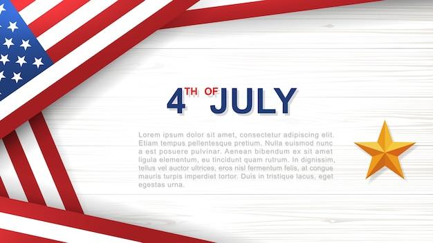 4 juillet - contexte de la fête de l'indépendance des états-unis.