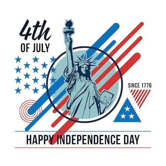 4 juillet avec des éléments américains
