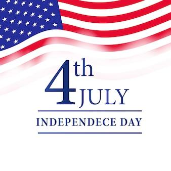 4 juillet fête de l'indépendance américaine avec drapeau de l'amérique