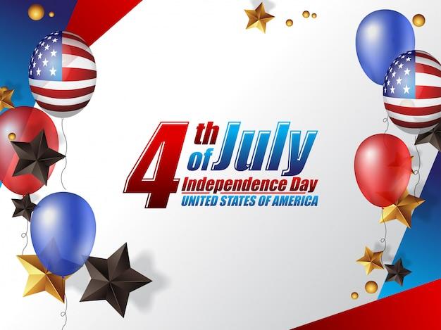 4 juillet fête de l'indépendance états-unis d'amérique