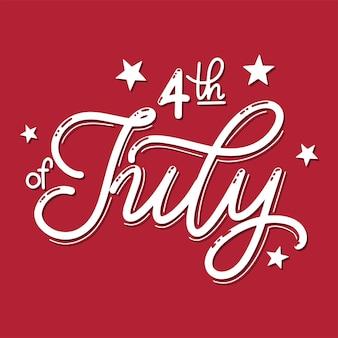 4 juillet. fête de l'indépendance des états-unis. éléments pour invitations, affiches, cartes de voeux. conception de t-shirt