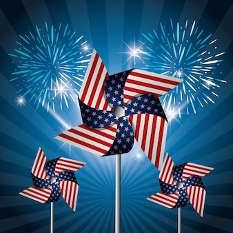 4 juillet, fête de l'indépendance des états-unis