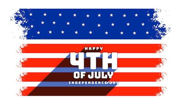 4 juillet fond de célébration de la fête de l'indépendance