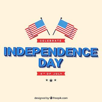 4 juillet fond avec des drapeaux américains