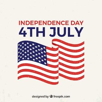 4 juillet fond avec des éléments américains