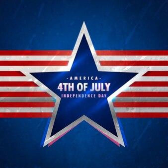 4 juillet fond avec étoiles et rayures rouges