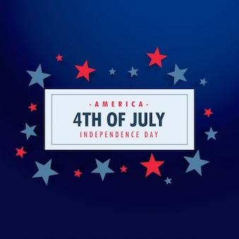 4 juillet fond avec des étoiles